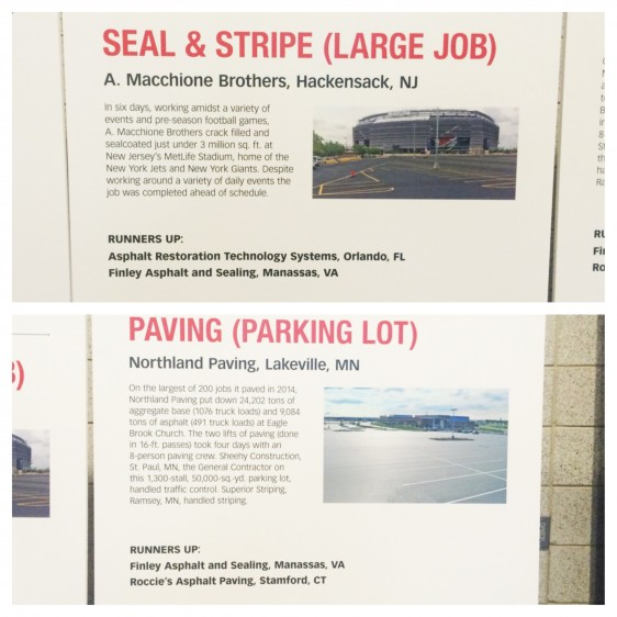 AWARDS FROM PAVEMENT MAINTENANCE AND RECONSTRUCTION MAGAZINE