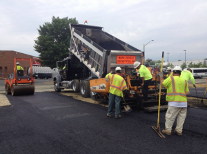 PAVING QUARLES FUELING STATION LOCATED IN SPRINGFIELD VA.
