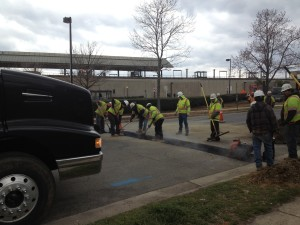 UTILITY PATCH FOR COMCAST AT THE BRADDOCK RD. METRO.