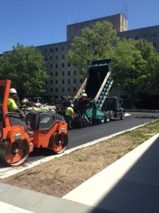 PAVING IN NORTH WEST D.C. AT THE ARMED FORCES HOME.