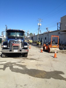 DRAINAGE REPAIRS AT SOUTHSIDE PLAZA FOR SAUL CENTERS LOCATED IN RICHMOND, VA
