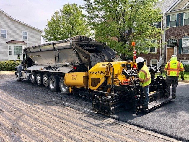 Asphalt Milling and Paving Project near Reston VA