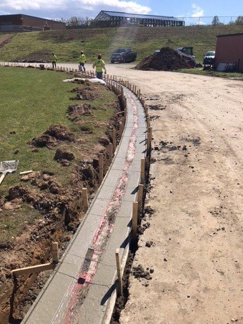 Storm Drain and Paving Project School near Alexandria VA