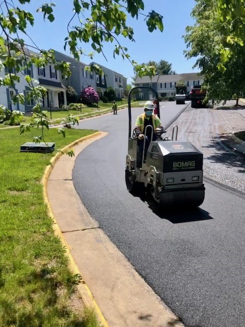 Parking lot paving, milling and concrete project near Centreville VA
