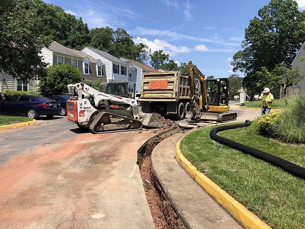 Paving Contractor facilitates neighborhood rehabilitation project in Centreville VA