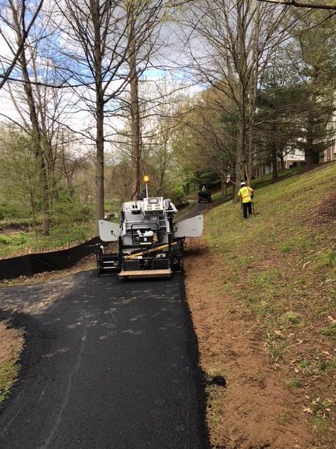 Asphalt Resurfacing project near Gaithersburg MD